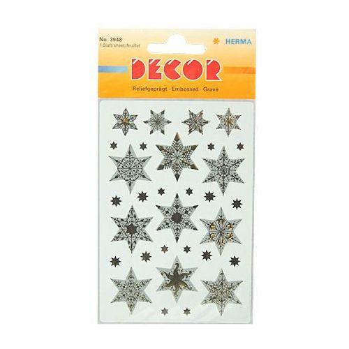 Naklejki HERMA Decor 3948 gwiazdy biało-złote x1