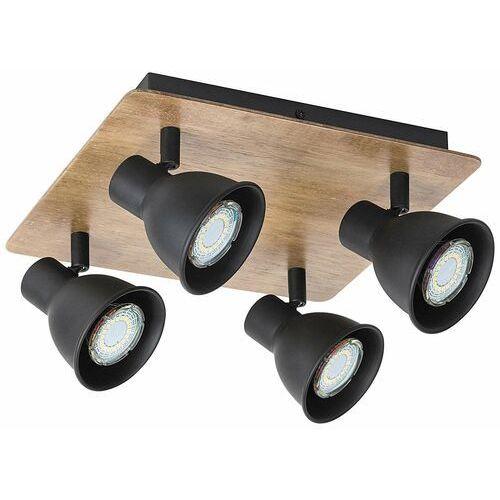 Rabalux Plafon mac 5905 lampa sufitowa 4x15w gu10 czarna/brązowa (5998250359052)