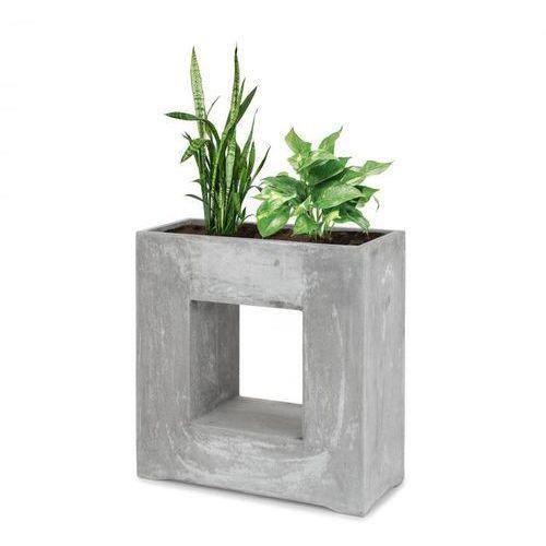 Blumfeldt airflor doniczka na rośliny 70x70x27cm włókno szklane do wewnątrz/na zewnątrz jasnoszary (4060656101700)