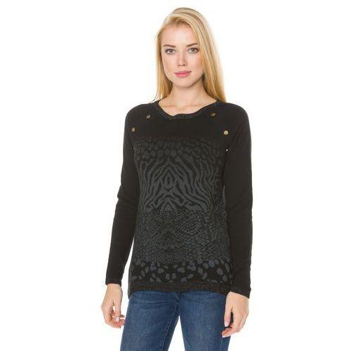 Desigual sweter damski Gaea XS czarny, 17WWJF50