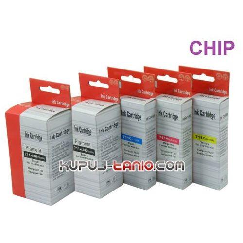 .HP 711 (5 szt. Arte) tusze do HP DesignJet T150, HP DesignJet T120, HP DesignJet T520 (6949853471152)