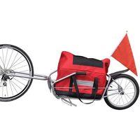 przyczepa ciężarowa do roweru z jednym kółkiem torbą, marki Vidaxl