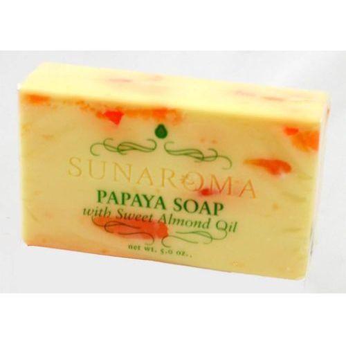 Papaya Soap whit Sweet Almond Oil - Mydło w kostce, M-S417