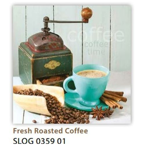 Pol-mak Serwetki 33 x 33 cm slog 035901 młynek do kawy i filiżanka