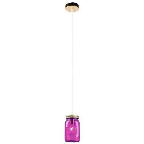 LAMPA wisząca JARS 31-42958 Candellux szklana OPRAWA zwis słoik fioletowy, 31-42958