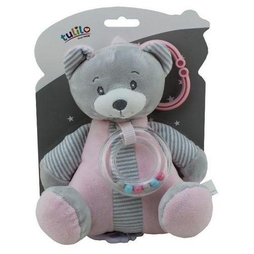 Pozytywka New Baby - Miś różowy 18 cm (5902002060462)