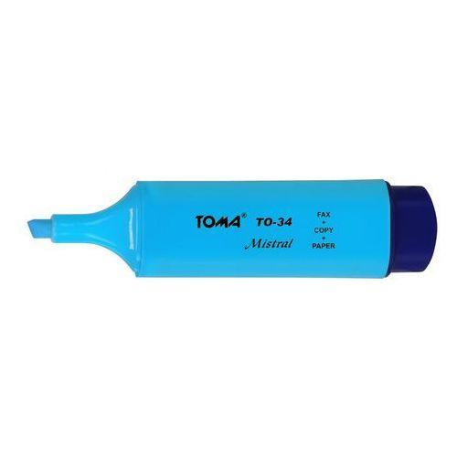 Zakreślacz mistral to-334 niebieski marki Toma