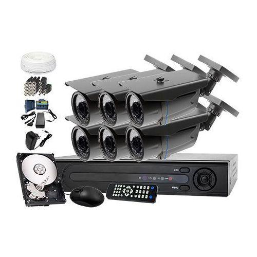 Zestaw do monitoringu: rejestrator lv-xvr84, 6 x kamera lv-al30ht+ dysk 1tb + akcesoria marki Ivelset