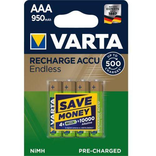 VARTA BATERIE Akumulatorki VARTA ENDLESS ENERGY R2U AAA 950mAh 4szt (4008496928378)
