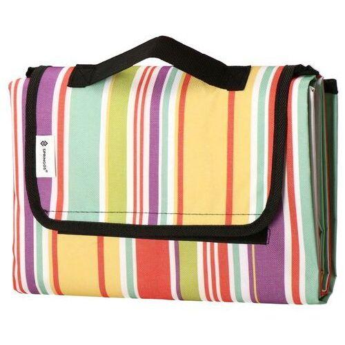 Koc piknikowy plażowy 130x170cm mata kolorowe pasy
