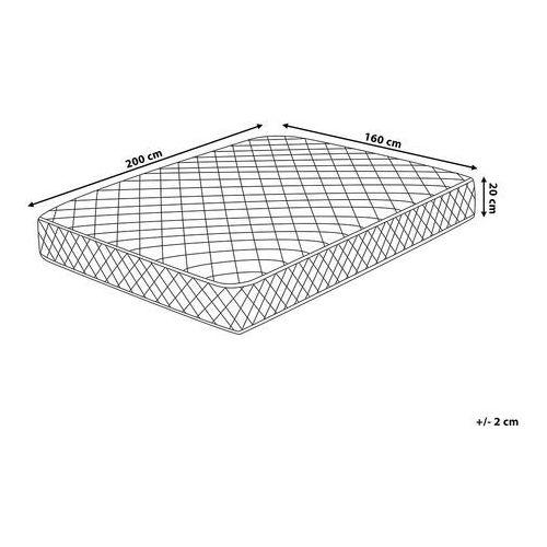 OKAZJA - Beliani Materac kieszeniowy - miękki / twardy - 160x200 cm - duo
