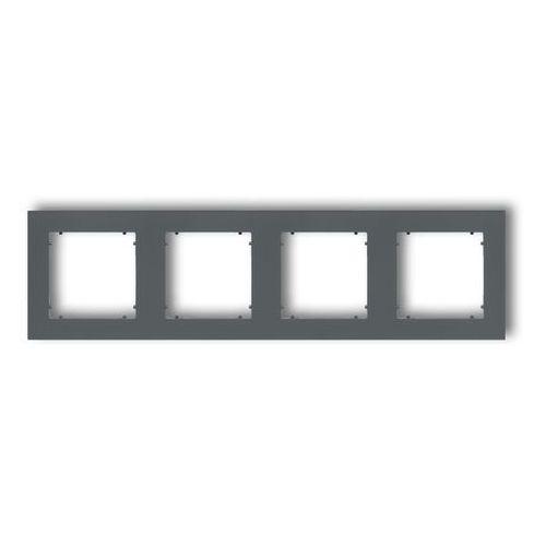 Ramka poczwórna mini 28mr-4 grafitowy mat marki Karlik