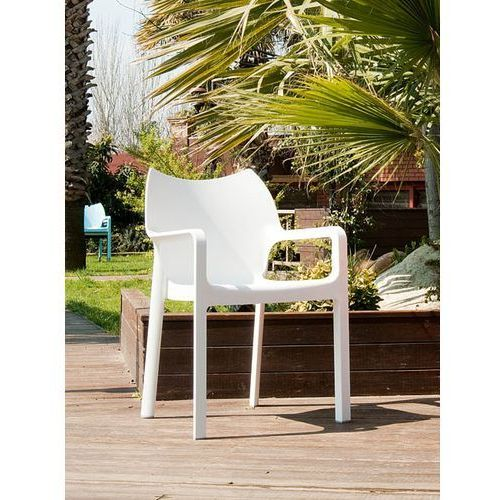 Krzesło dionisio white arm chair marki Resol