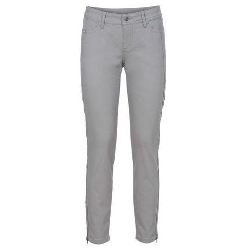 Spodnie ze stretchem bonprix szary, 1 rozmiar