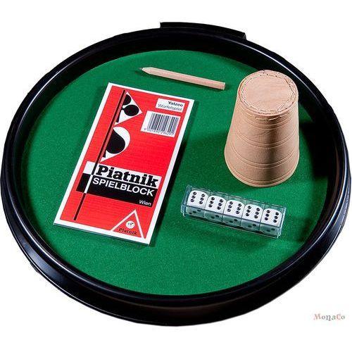 Zestaw do gry w kości - tacka + kubek + kości oczkowe - zestaw do gry w kości - tacka + kubek + kości oczkowe - piatnik marki Piatnik
