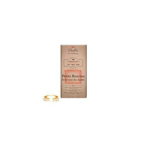 Czekolada Dolfin z ciasteczkami maślanymi i różową solą 70g, 3444-894B5