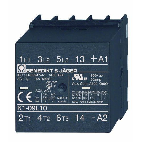 Benedict&jager 4 polowy 7a / 24v ac / 2z + 2r / do pcb k1-07l22 24