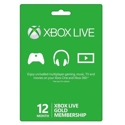 Microsoft Xbox live 12 months gold membership card global (0882224079181)