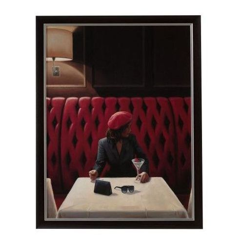 Dekoria obraz woman in pub 60x80, 60 × 80