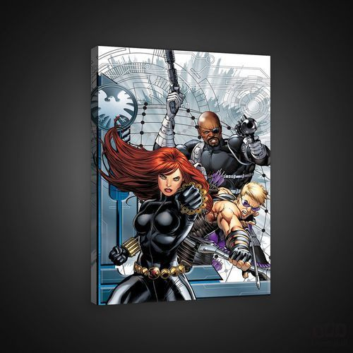 Consalnet Obraz marvel avengers: hawkeye, black widow, nick fury ppd313o4