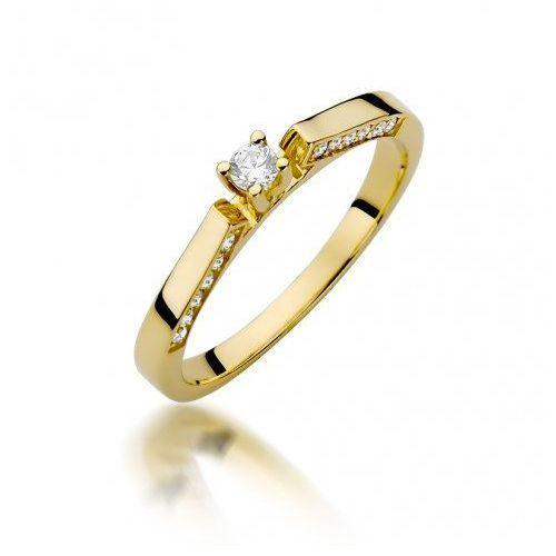 Saxo Biżuteria 14k pierścionek z brylantami 0,28ct w-396 złoty