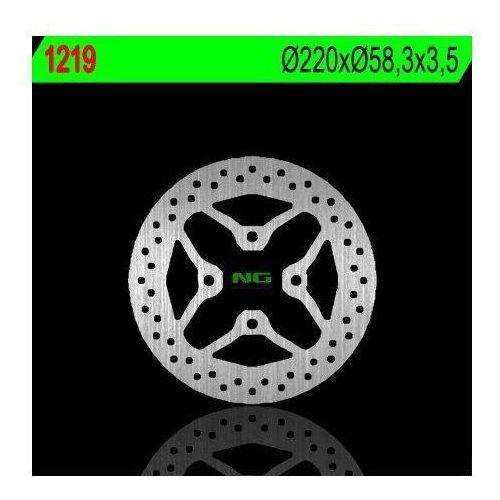 Ng 1219 tarcza hamulcowa honda skutery 50/110/125/150 (220x58,3x3,5) 4 otwory 10,5mm