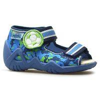 Kapcie dziecięce 350p002 snake niebieskie/zielone marki Befado