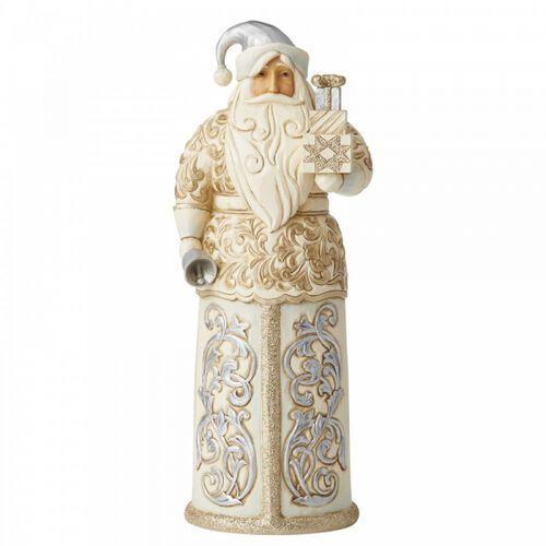 Mikołaj z dzwonkiem i prezentami santa with bells 6006614 figurka ozdoba świąteczna marki Jim shore