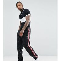black line poly tricot joggers with side tape - black marki Fila