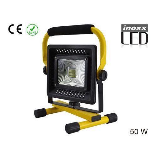 NAŚWIETLACZ PRZENOŚNY LED 50W 6000K AKU/ 230V (5901867721075)