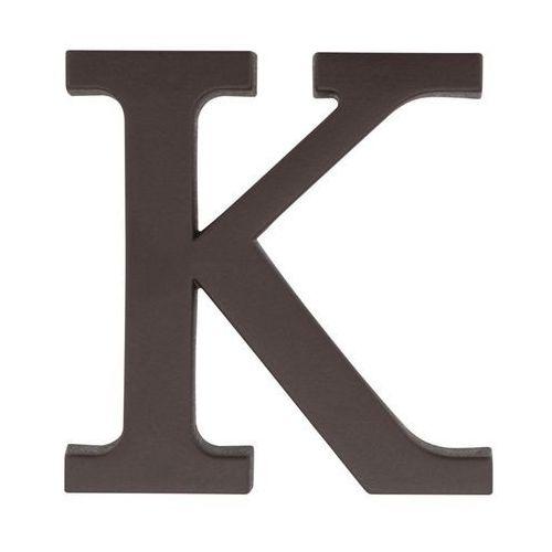 Litera K wys. 9 cm PVC brązowa (5901912823310)