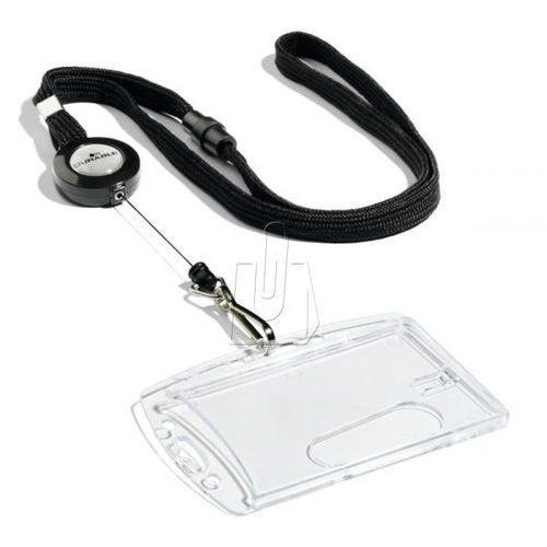 Taśma z mechanizmem ściągającym i karabińczykiem czarna 1 sztuka 8223 01 marki Durable