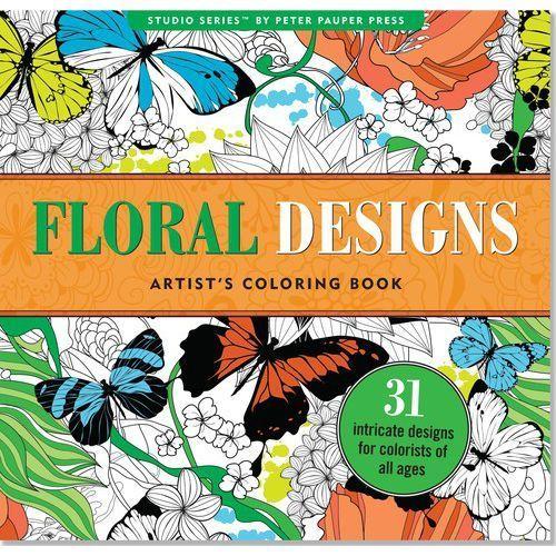 Kolorowanka artystyczna Kwiatowe wzory