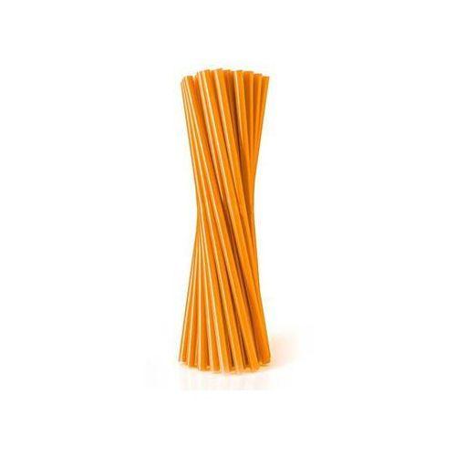Słomki - rurki pomarańczowe proste - 24 cm - 500 szt. - pomarańczowy marki Go