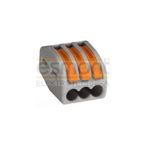 Wago Szybkozłączka uniwersalna 3x0,08-4mm2 z dźwigniami zwalniającymi 222-413, 222-413 100szt