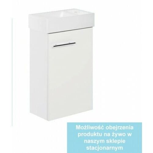 DEFTRANS KIM D40 Zestaw łazienkowy szafka + umywalka 40, biały 190-D-04001+1406, 190-D-040011406