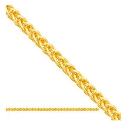 Rodium Łańcuszek złoty pr. 585 - lv002