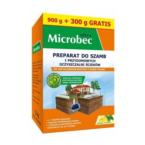 Bros Preparat do szamb i przydomowych oczyszczalni ścieków 1.2 kg microbec