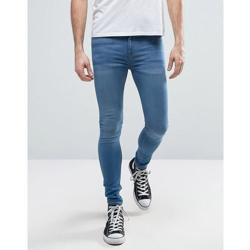 New Look Extreme Super Skinny Jeans In Light Wash Blue - Blue