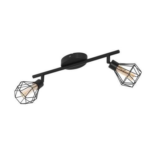Eglo Zapata 1 32766 oprawa sufitowa druciana listwa spot 2x3W G9-LED czarna/bursztynowa, kolor Czarny