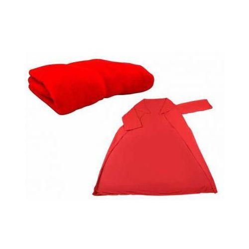 Koc z rękawami 160x120cm czerwony (5901785360899)