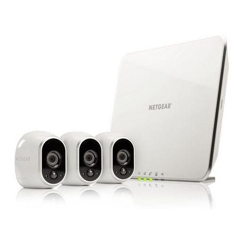 Zestaw NETGEAR Arlo VMS3330 (3 kamerki IP) + stacja kontrolna