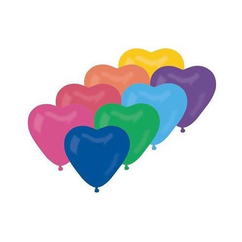 Baloniki mix kolorowe serca - 29 cm - 10 szt. marki Go