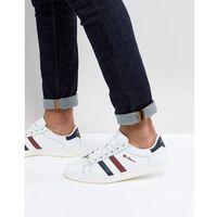 retro stripe trainers - white marki Ben sherman