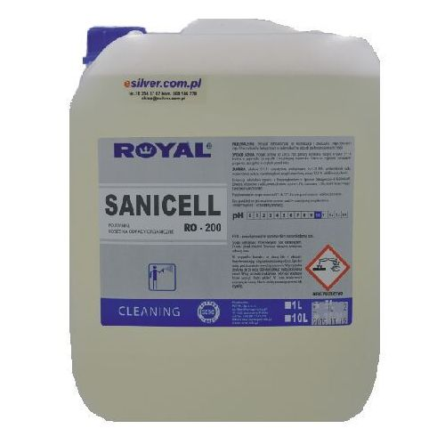 Środek do usuwania zapachu z kratek ściekowych sanicell 10 l preparat do zwalczania brzydkiego zapachu z kratek ściekowych marki Royal