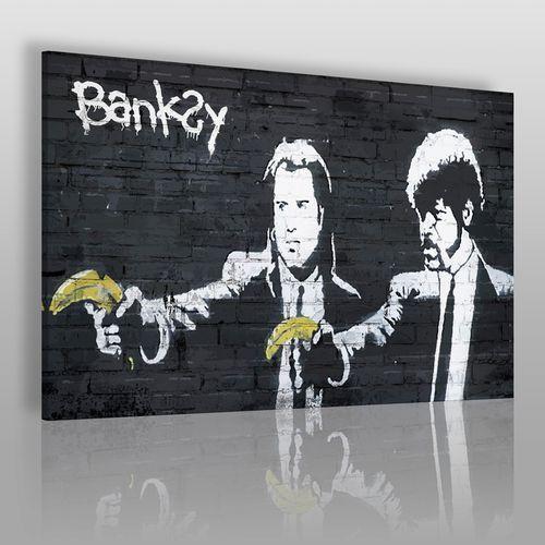 Banksy - pulp fiction - nowoczesny obraz na płótnie marki Vaku-dsgn
