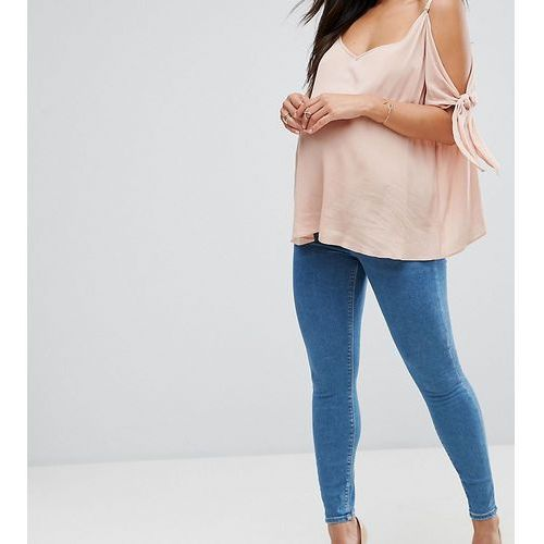 Asos maternity Asos design maternity ridley high waist skinny jeans in lily wash with under the bump waistband - blue