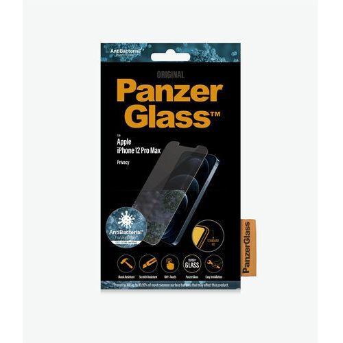 PanzerGlass szkło hartowane Standard Privacy Antibacterial, Apple iPhone 12 Pro Max P2709, przezroczysty (5711724127090)