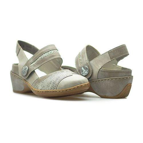Sandały 47176-42 szare marki Rieker