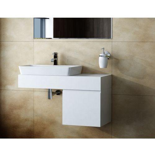 Antado Combi szafka z blatem lewym i umywalką Conti biały ALT-140/45GT-WS+ALT-B/4-1000x450x150-WS+UCT-TP-37x59 - sprawdź w wybranym sklepie